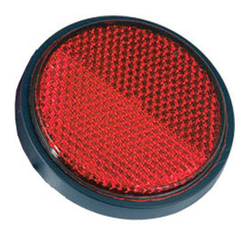 Red Chris Products Round Reflector 2-1 2 Inch Adhesive Mounted