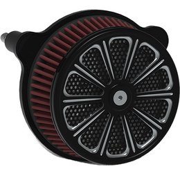 HardDrive Luck Custom Air Cleaner Assembly Black F2120A-ACBT Black