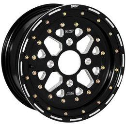 Black Douglas Wheel Sector 3 Piece Wheel 12x7 5b+2 Offset 4 136.5 Bolt Alu Atv