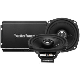 Rockford Fosgate R1-HD2-9813 Prime 140 Watt 2-Chnl Amp/Speaker Kit For H-D 98-13 Black
