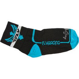 Black, Blue Fly Racing Action Socks Pair Black Blue
