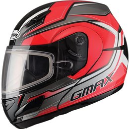 GMax GM44S Glacier Modular Snow Helmet With Dual Pane Shield Red