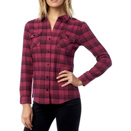 Fox Racing Womens Variegate Long Sleeve Flannel Shirt Red