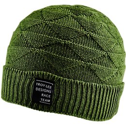 Troy Lee Designs Womens Campus Fold-Over Acrylic Beanie Hat Green