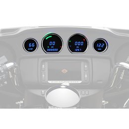 Dakota Digital Replacement Touring Gauges F/ Harley Davidson Blue 2014 MCL-3014 Blue