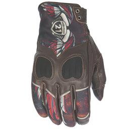 Highway 21 Womens Vixen Leather Gloves Brown