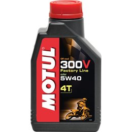Motul 300V 4T Factory Line Offroad Synthetic 4-Stroke Engine Oil 5W-40 1 Liter