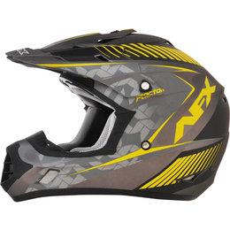 AFX FX17 Matte Factor Full Face Helmet Yellow, Frost Grey
