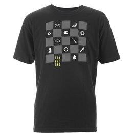 Fly Racing Youth Boys Checkers Cotton T-Shirt Black