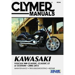 Clymer Manual For Kawasaki 06-13 Vulcan 900 Classic LT Classic LT Custom M246 Unpainted
