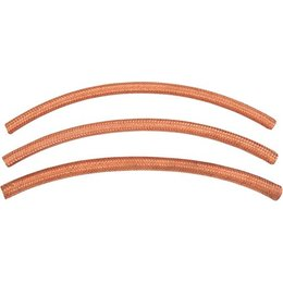 Namz Braided Fuel Line Crossover 1/4 Inch ID 25 Foot Copper For Harley-Davidson