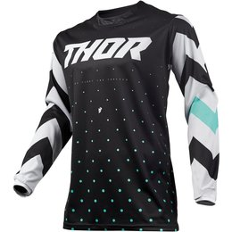 Thor Youth Boys Pulse Stunner Jersey Black