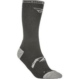 Fly Racing Mens Pro Lite Wool Crew Socks Black