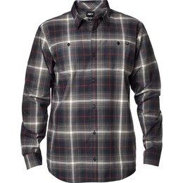 Fox Racing Mens Resistance Long Sleeve Woven Button Up Shirt Black