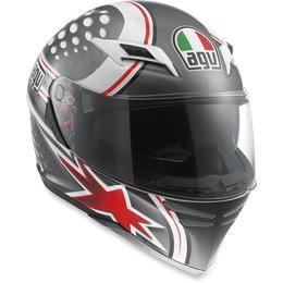 White, Gunmetal, Red Agv Mens Skyline Psycho Full Face Helmet 2013 White Gunmetal Red