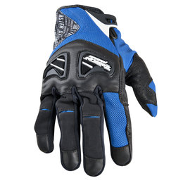 Blue Speed & Strength Run With The Bulls Leather Textile Gloves