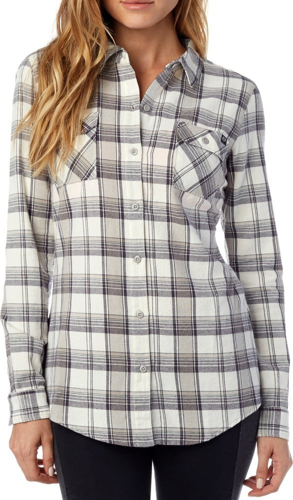 Fox racing womens variegate long sleeve flannel 993891 for Types of flannel shirts
