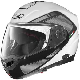 Metal White, Black Nolan N104evo N-104 Evo Tech Modular Helmet Metal White Black