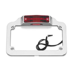 Chrome Bikers Choice Twin Light License Plate Frame