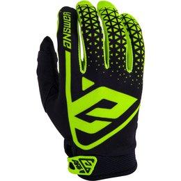 Answer Racing Youth Boys AR-1 AR1 Gloves Black