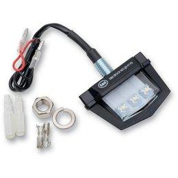 K&S Technologies License Plate Light Black With White LED