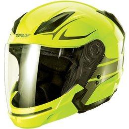 Hi-viz, Gunmetal Fly Racing Tourist Vista Open Face Helmet 2013 Hi-viz Gunmetal