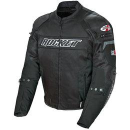Joe Rocket Mens Resistor Armored Textile Jacket Black