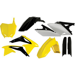 Acerbis Full Plastic Kit For Suzuki RMZ250 2010-2013 Original 2198033914 Yellow