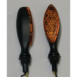Black Bodies, Amber Lenses Dmp Led Marker Lights Long Oval Black Amber