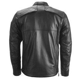 Highway 21 Mens Gasser Armored Leather Jacket Black