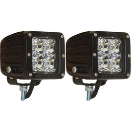 Rigid Dually ATV 2 X 2 Spot Surface Lights Pair Black With White LED 20221 Black