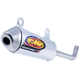 FMF Racing PowerCore 2 Silencer KTM 125 SX 150 SX Stainless Aluminum 025186 Unpainted