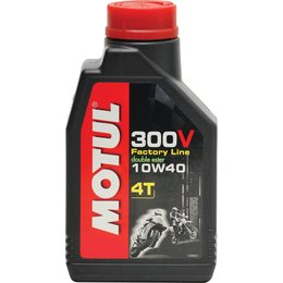 Motul 300V 4T Factory Line Racing Synthetic 4-Stroke Engine Oil 10W-40 1 Liter