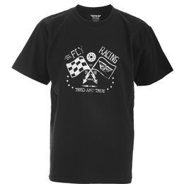Fly Racing Youth Boys Tried And True Cotton T-Shirt Black