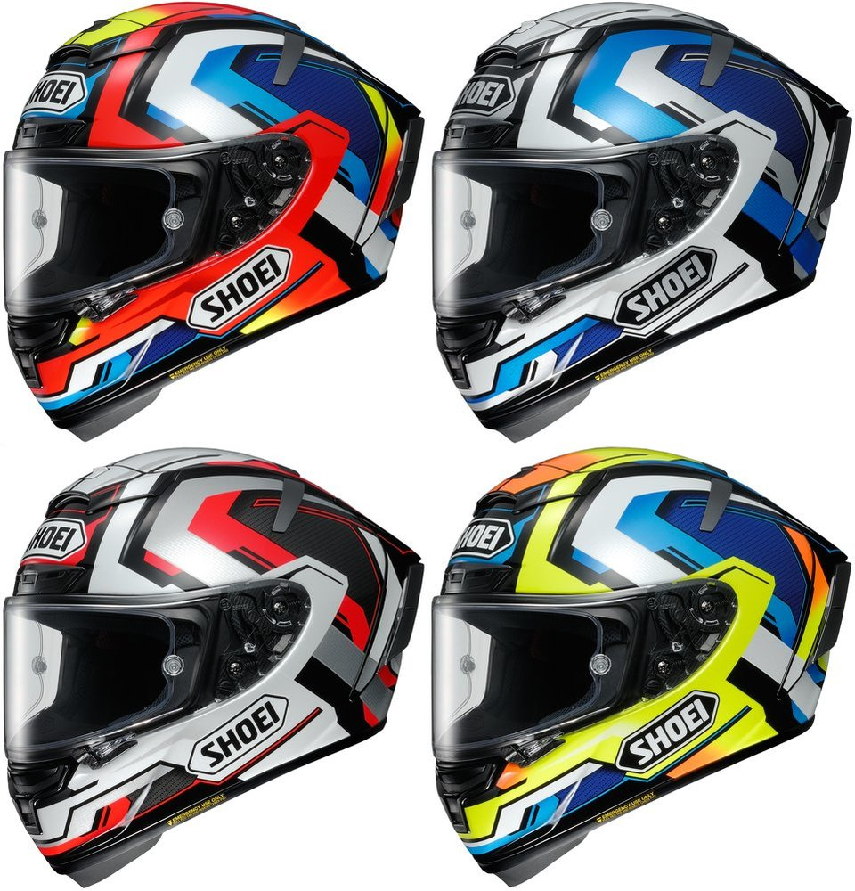 859 99 Shoei X Fourteen X14 X 14 Brink Full Face Helmet
