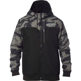 Fox Racing Mens Cylinder Hooded Water-Resistant DWR Coated Cold Weather Jacket Black