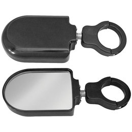 Modquad Side Mirrors Plain Aluminum Black Can Am Commander