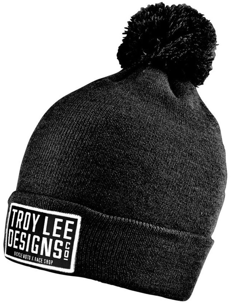 Troy Lee Designs Womens Knox Lightweight Marled Slouchy Cotton Beanie Hat  Black ... 60bbff0018