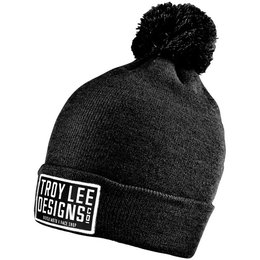 Troy Lee Designs Womens Knox Lightweight Marled Slouchy Cotton Beanie Hat Black