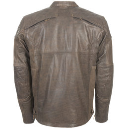 Highway 21 Mens Gasser Armored Leather Jacket Brown