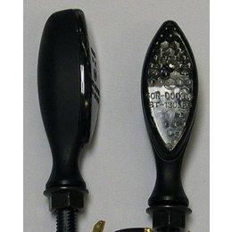 Black Bodies, Smoke Lenses Dmp Led Marker Lights Long Oval Black Smoke