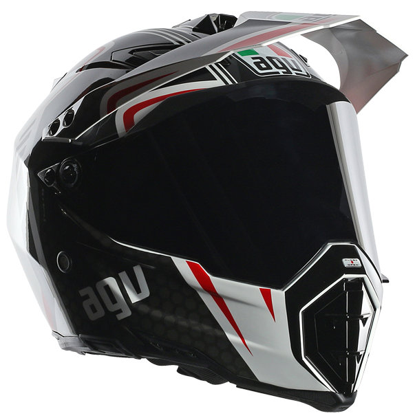 agv ax 8 ax8 dual evo gt helmet x large white gunmetal red. Black Bedroom Furniture Sets. Home Design Ideas