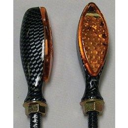 Carbon Bodies, Amber Lenses Dmp Led Marker Lights Long Oval Carbon Amber