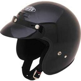 Black Gmax Youth Gm2y Open Face Helmet