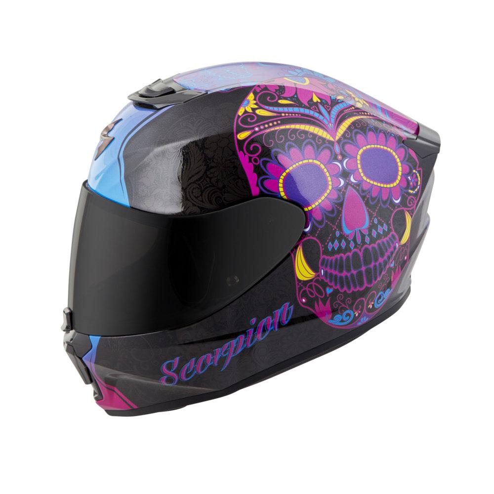 Scorpion Womens Exo R420 Exor 420 Sugarskull Full Face Helmet