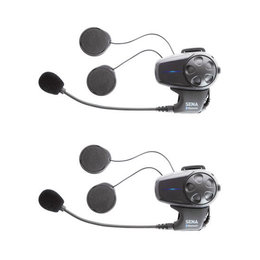 Sena Technologies SMH10D-11 Dual Bluetooth Headset With Universal Microphone Black