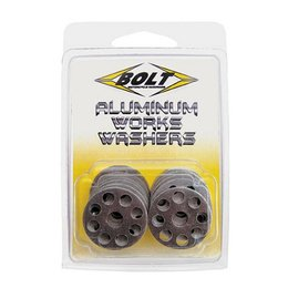 Bolt MC Works Washers 10 Pack Aluminum Metallic