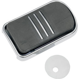 Drag Specialties Sweeper Brake Pedal Pad For Harley-Davidson Chrome 1611-0032