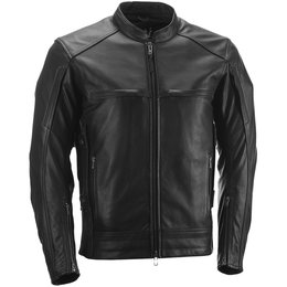 Highway 21 Mens Gunner Armored Leather Jacket Black