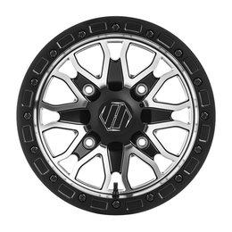 HiPer Wheel Raptor 15X8 4+4 4/110 Bolt Black Machined 1580-YFSCM-44-SBL-CM Black